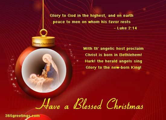 religious merry christmas greetings message