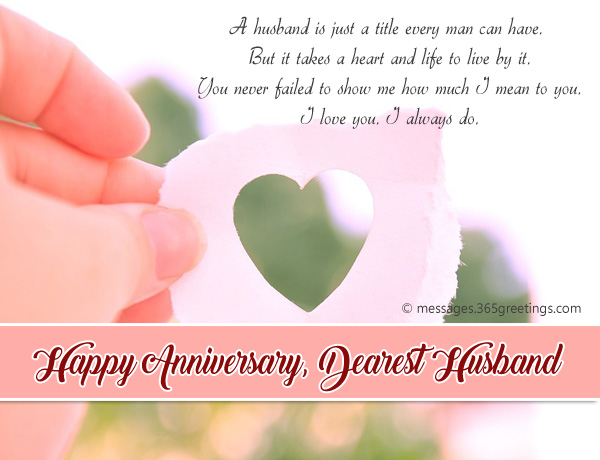 Wedding Anniversary Card Messages For Husband