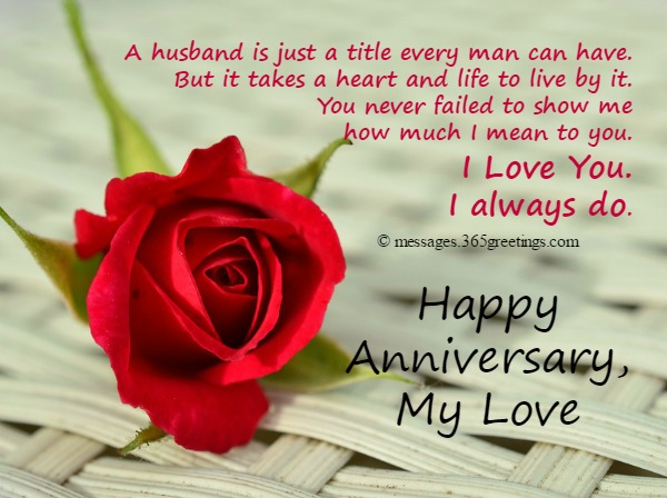Anniversary Card Messages For Husband