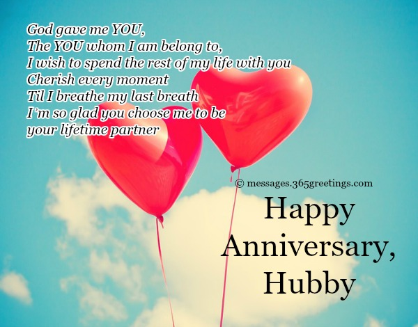 Wedding Anniversary Messages For Husband In English