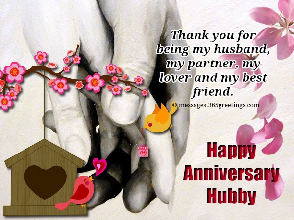 Anniversary wishes for husband greetings