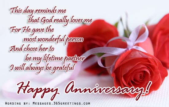 Wedding Anniversary Messages To Wife