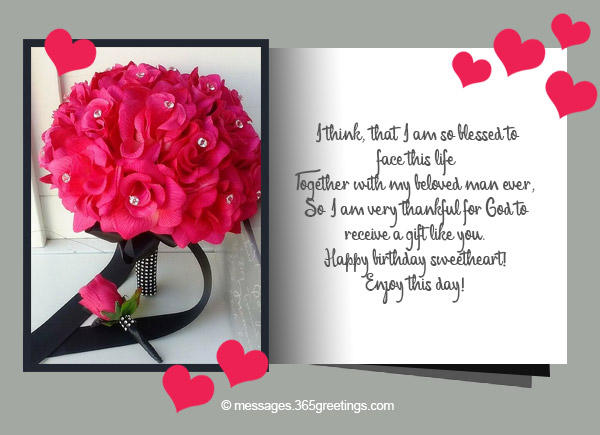 Birthday wishes for husband 365greetings i think that i am so blessed to face this life together with my beloved man ever so i am very thankful for god to receive a gift like you happy birthday bookmarktalkfo Gallery