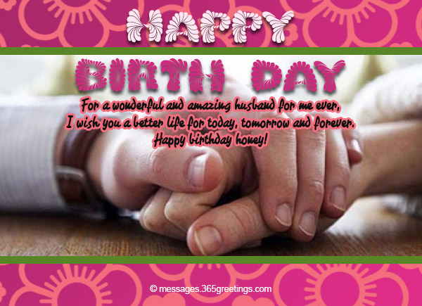 Sweet Birthday Messages For Your Husband