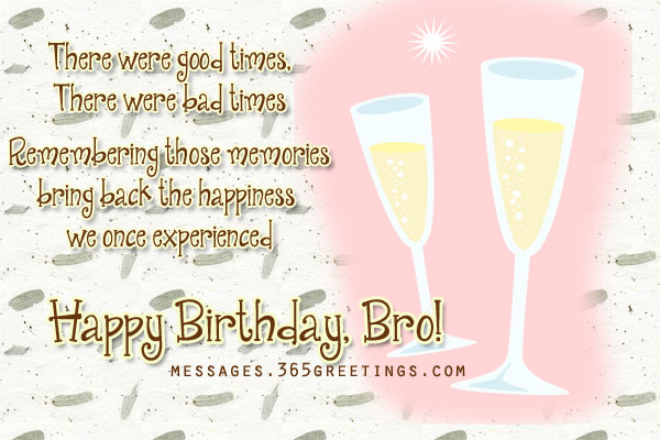 Enjoy your birthday bro! May you have a wonderful one, You deserve it ...