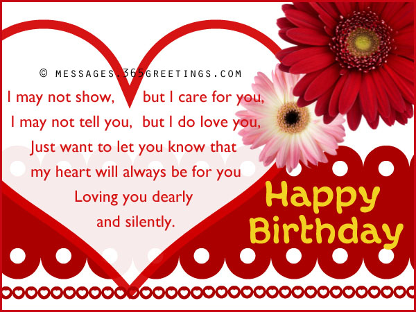 Short Sweet Birthday Message For Girlfriend