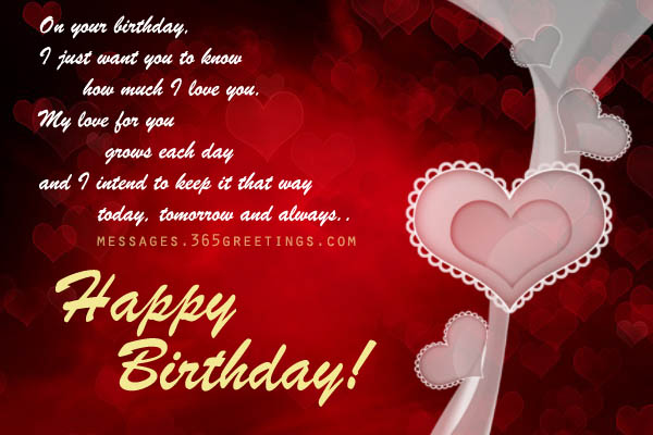 Love birthday messages 365greetings birthday love messages m4hsunfo