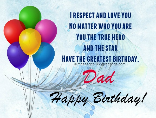Birthday Messages For Dad 365greetings Com