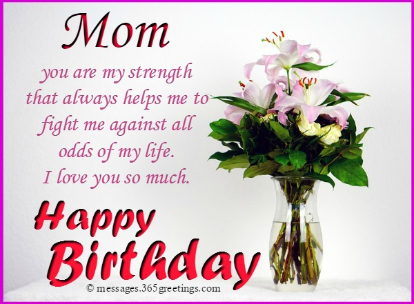 Birthday Messages For Your Mom