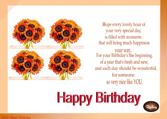 birthday wishes for girlfriend  messages, greetings and wishes, Birthday card