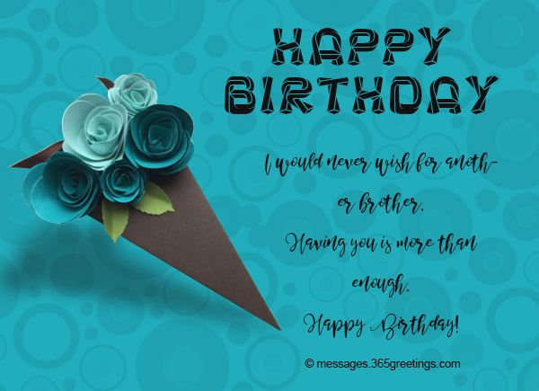 Birthday Wishes for Brother 365greetings – Birthday Card for Brother from Sister