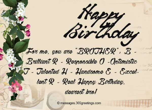 Birthday Wishes for Brother 365greetings – Birthday Greetings to Brother
