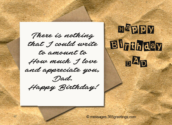 Birthday Wishes for Dad 365greetings – Writing Birthday Greetings