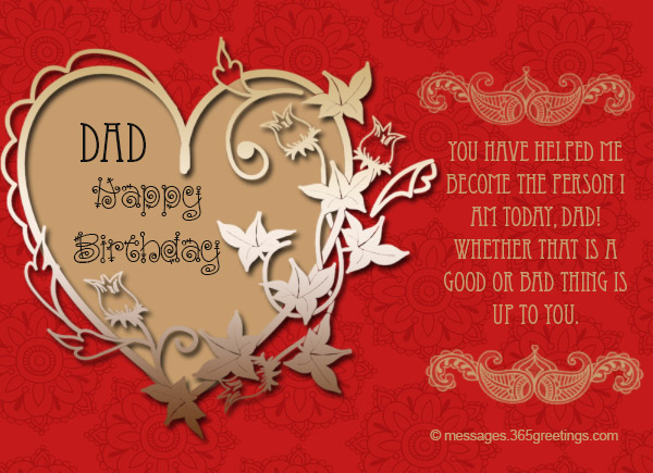 Birthday Wishes for Dad 365greetings – Birthday Card Messages for Dad