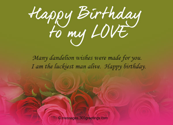 Birthday wishes for girlfriend 365greetings many dandelion wishes were made for you i am the luckiest man alive happy birthday bookmarktalkfo Choice Image