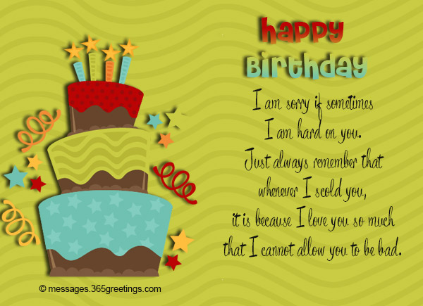 Birthday wishes for kids 365greetings i am sorry if sometimes i am hard on you just always remember that whenever i scold you it is because i love you so much bookmarktalkfo Gallery