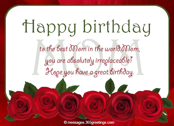 You Can Select Your Favorite Birthday Message From The Below Collection Of For Mom
