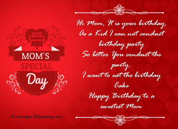Birthday Wishes For Mom From Son