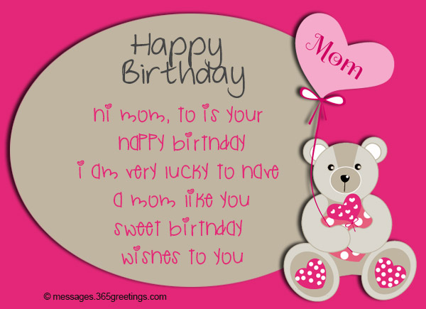 Birthday wishes for mother 365greetings happy birthday wishes for mom for facebook m4hsunfo