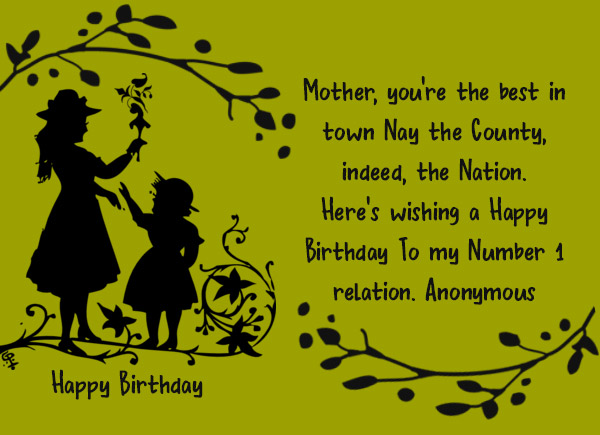 Happy Birthday Poems For Mom