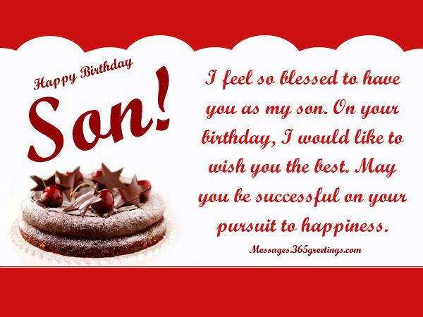 Birthday wishes for son includes special birthday messages and wishes