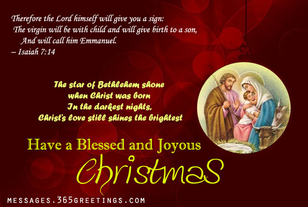 Christian Christmas Wishes - 365greetings.com