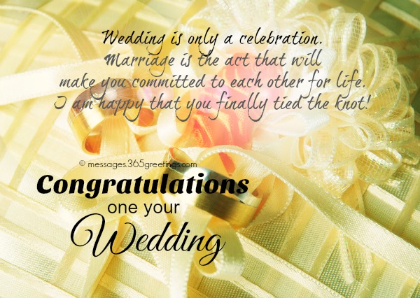 Wedding wishes and messages 365greetings congratulations on your wedding m4hsunfo
