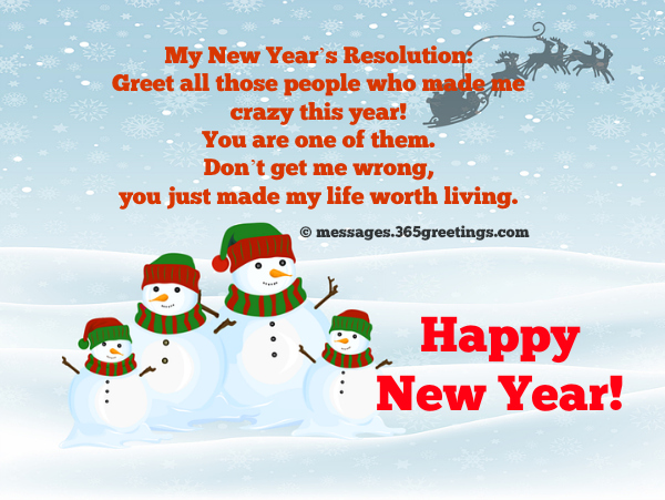 funny new year messages with image