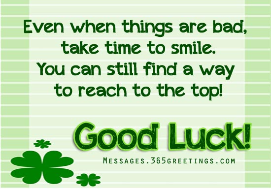 Good luck messages wishes and good luck quotes 365greetings good luck wishes m4hsunfo