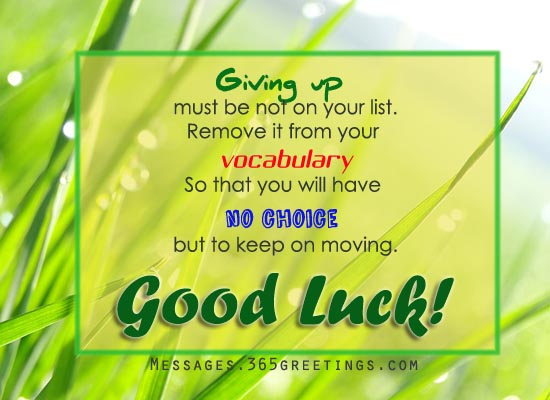 Good Luck Messages Wishes And Good Luck Quotes
