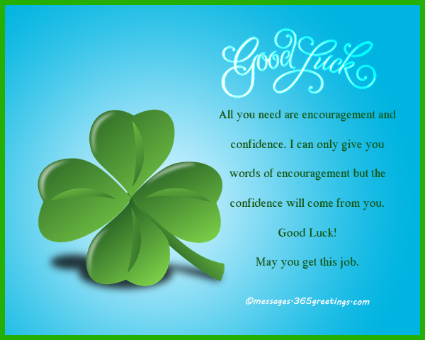 Good Luck Messages, Wishes and Good Luck Quotes - 365greetings com