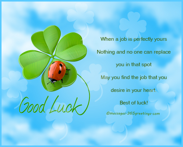 Good Luck Messages, Wishes and Good Luck Quotes ...