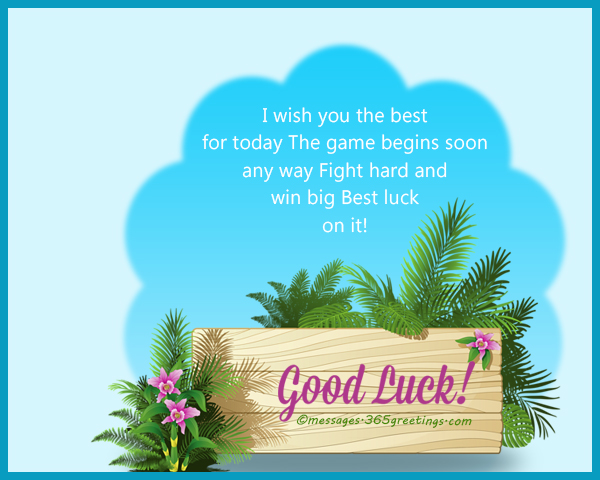 good luck messages for sports