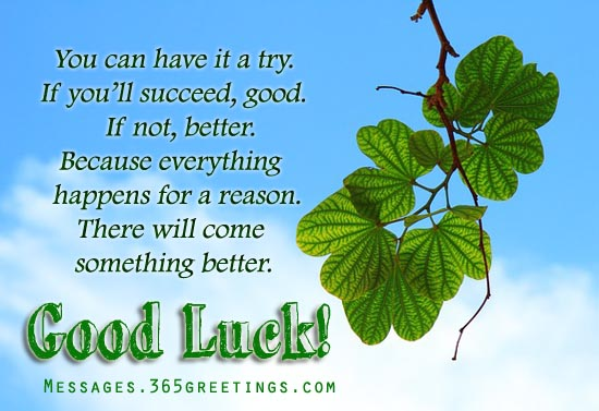 Things to write in good luck cards