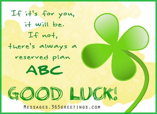 Good Wishes Quotes Mesmerizing Good Luck Messages Wishes And Good Luck Quotes  365Greetings