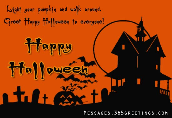 Elegant Halloween Greetings Picture