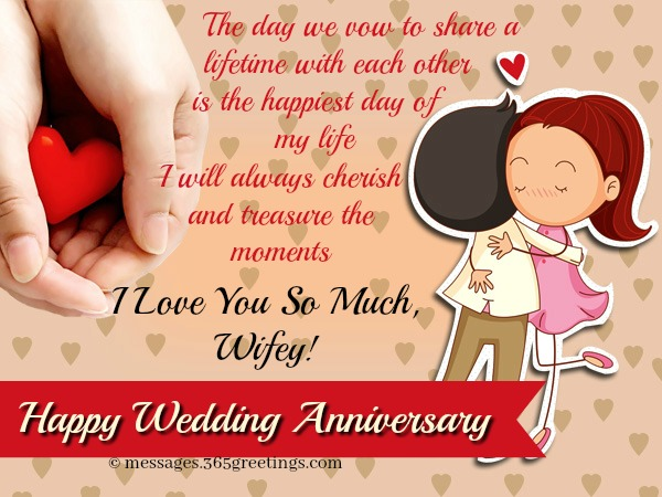 Happy anniversary for wife greetings