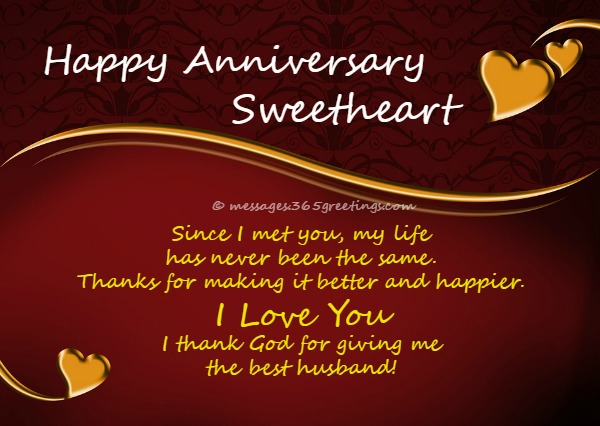 Anniversary Wishes For Husband 365greetingscom