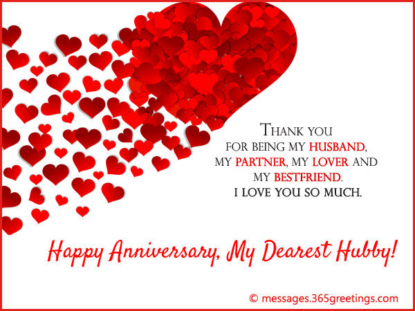 Short anniversary message for husband