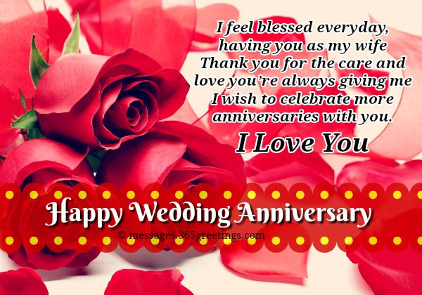 Anniversary messages for wife 365greetings but you keep on loving and believing me for that i will always be grateful in return i will keep loving you happy wedding anniversary my wife m4hsunfo
