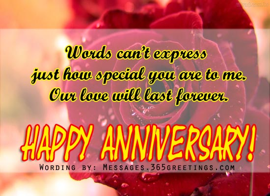 Happy anniversary to wife greetings
