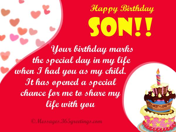 Happy Birthday Greetings For Son
