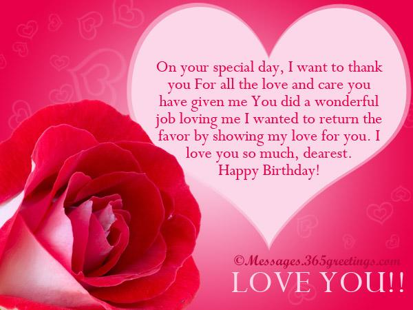 Happy Birthday Love Messages
