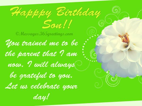 Son Birthday Card Messages