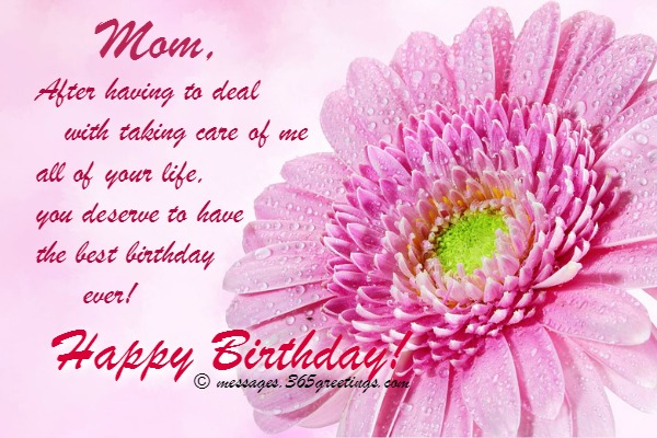 Happy Birthday Wishes For Mom