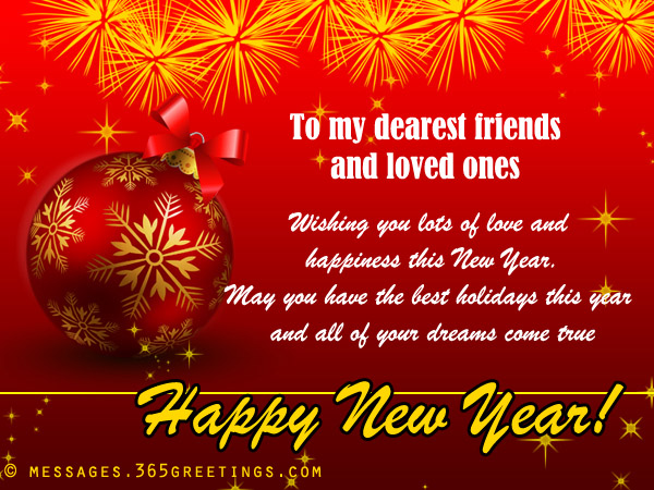 happy new year greetings for friend