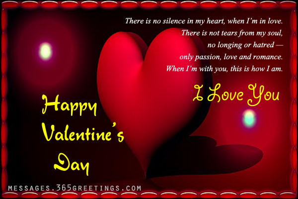 Message for valentine day love