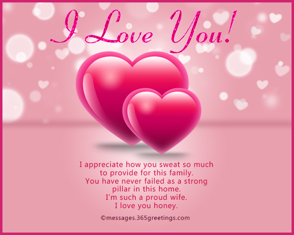 Love messages for husband 365greetings i appreciate how you sweat so much to provide for this family you have never failed as a strong pillar in this home im such a proud wife i love you m4hsunfo