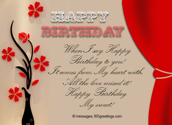 Love Birthday Messages 365greetings Com
