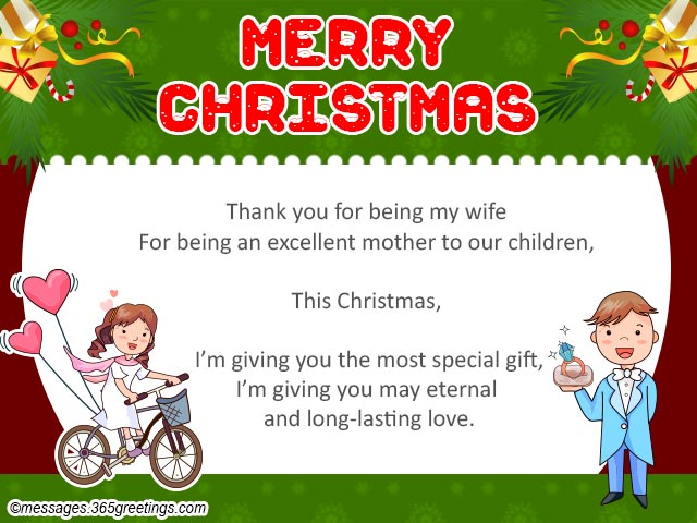 Christmas messages for wife 365greetings merry christmas card for wife m4hsunfo
